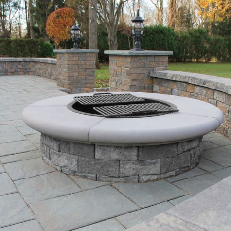 Serafina Mix Firepit with coping