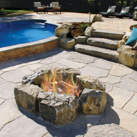 Rosetta Pool Rock Firepit